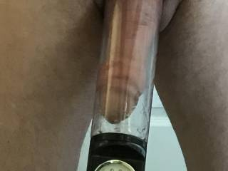 Pumping my fat cock