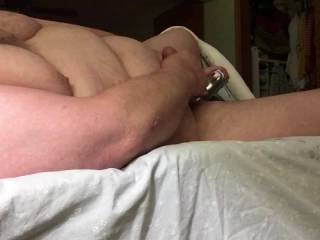 Enjoying my favorite pastime ... Just me and my toys! Oh how I love the feel of a vibrator sliding up and down on my balls and between my ass cheeks as I stroke my small hard cock while imagining being fucked by someone;)