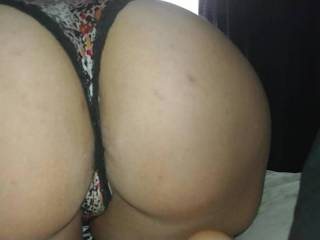 Rubbing on the wife's sexy ass