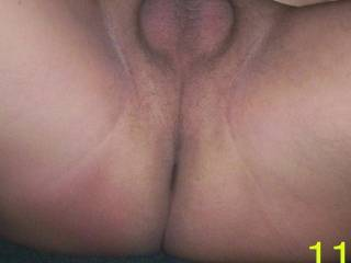Hot sexy view, love that long slit and smooth area between your ass and balls.  Great pic!!!