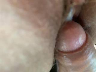 After cumming hard and deep ... just pulling out