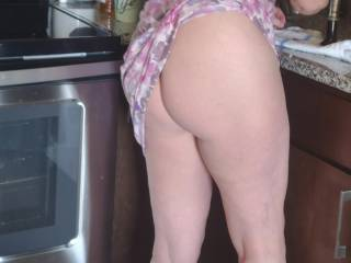 Just a quick flash while preparing breakfast