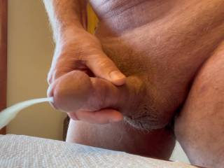 Horny so I masturbated and caught this nice load on video.