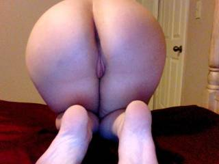Mmm, one of the best asses I've ever seen! So round and perfect! And your pussy looks so soft and pink!