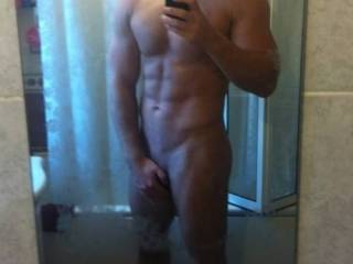Another post shower pic shot by the beautiful woman who accompanied me.