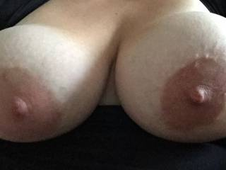 Let me use my hard cock to rub massage oil all over them before slipping between them, fucking them and covering them with my cum.