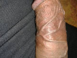 uncut cock with huge veins 7