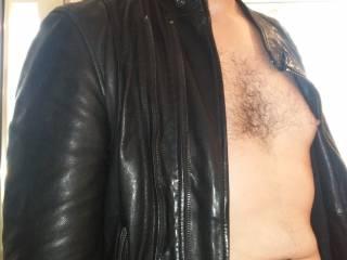 Naked and sweaty underneath that leather anyone feeling kinky?