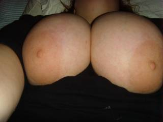 I love your tits darling..I'd like to put my dick between them and squirt my hot cream all over...HOT