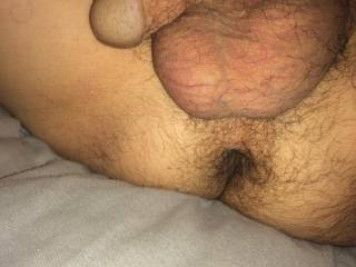My butthole with cock and balls