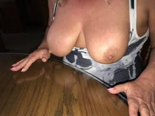 morning tits 54yo wife 40D