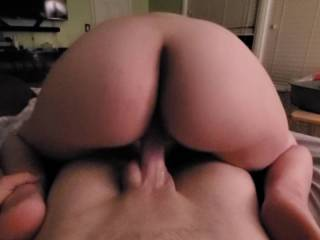 She loves to be on top, especially to show me that lovely ass of hers! 🍑