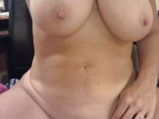 wife showing off her big tits