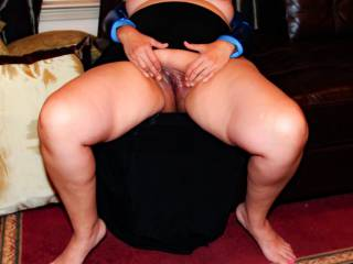 Do you like this spread pussy pose?