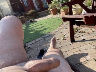 I get horny when the sun is on my cock do you get horny naked outdoors