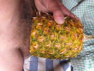 pushing my dick deepthroat-like into a juicy fruity pineapple hole. Do you want to lick it my hard sweet prick after cumming? (sorry: girls & milf only!)