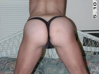 Ummmmm so sexy, love to remove your thongs with my TEETH n slide my cock into your pussy n ass fuck it deeeep n hard fill your fuck holes with CUM