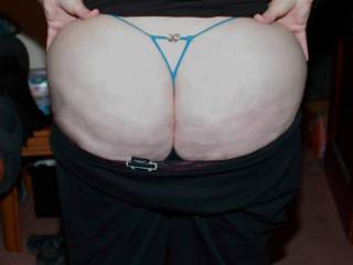 Big sexy ass like that look great in a thong!
