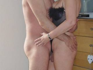 What's not to like...Fantastic Hotttt n' Sexy Couple!!  You've got my cock throbbing hard already!!  :-) ;-)
