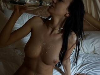 cum everywhere time for champers lol