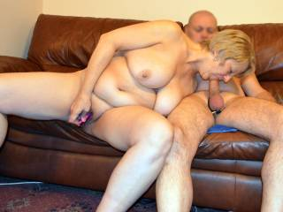 Fun all round bj while playing with her toy