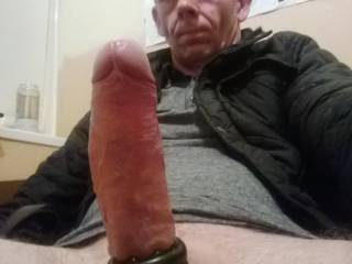 Your ready and hard and I am ready and willing to service that big dick of yours. Don't know what you like everyone fun with it! but I LOVE cock, big , little ,black, white. Anyway, very nice  and sorry if you don't let guys have that nice  Cock, turns me on looking at it!