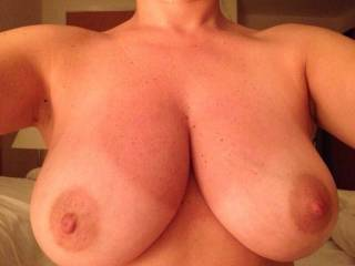 Another shot of her cracking rack. What you think?