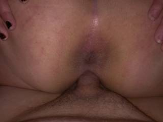 Kitties ass spread wide as I fuck her