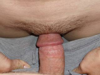 his cock was kissing my pussy...