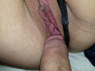 After filling her pussy with cum she loves sliding her panties on for the day.