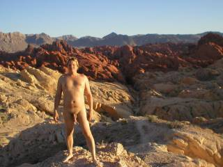 @aCOUPLEinLOVE  You said you wanted guys to post pictures of themselves that were more than just dick pix. This was from Valley of Fire, about an hour or so outside of Las Vegas
