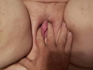 loves having her clit played with