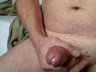 Mmmmm, I like seeing your hard cock cum.  I'd enjoy sucking on your cock...and making you cum. That's delicious cum oozing out of your cock.  I know it wants my lips around it.  MILF K