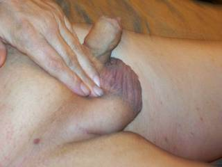 Fresh shaved cock and balls. Who wants some?