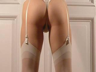 very hot legs & ass verry sexy lingerie, heels, & thigh highs