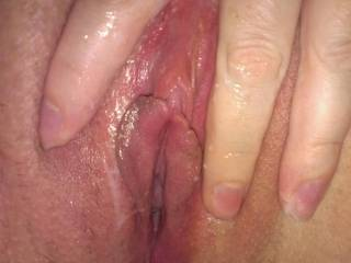 Wondering what I can put in my wet, soaking pussy next.  Any ideas? ;)