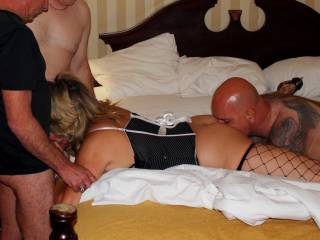 Hubby invited 2 friends over to fuck me