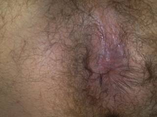 There's a hole to plow!! Nice suckable hairy ass!!
