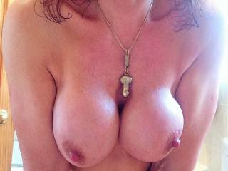 Wow! Now there is an offer I can't refuse! Mmmm I would love to slide my hard lubbed cock between your amazing tits and release a huge warm load of thick cream all over them! My balls are full my cock hard and ready for you! :)