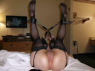 OMG!!!!!!!! This is so F'in sexy!!! I Love it, wanna bury my tonue and cock on both holes especially that fab Ass!!