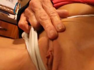 She shaved her tight pussy bald for me... Pics will be cumming soon of my big dick inside her- her pussy squeezing till I cum on her tan stomach...