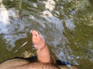 found a nice swimming hole on a hike in the woods, no one around so figured i\'d take some clothes off