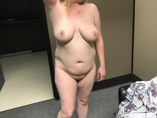 Fat little Kiki fully naked in my office about to get fucked and filled with cum before going home to let her new limp dick boyfriend eat her pussy!