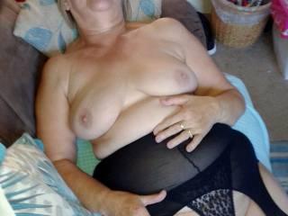 I like my new black lingerie..do you?
