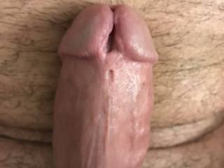 Close up of my pierced cock. Who would stick their tung in my big cock hole?