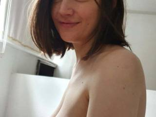 Sexy German slut Crystal showing off her big nipples and looking sexy!