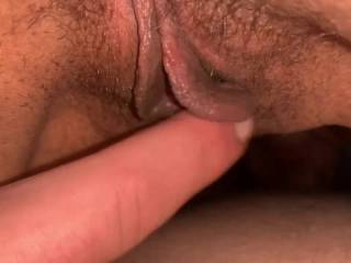 Rubbing New Zealand girls hairy cunt