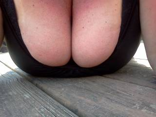I'd be happy to help them get of  what's holding them in. Once they are, my fingers will be drawn right to your nipples so they get all the attention they deserve. A little squeezing, tugging and sucking  for both of them.