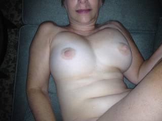 Mmmmm I just love loads of warm cum on my tits!