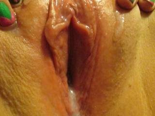 How about after your BF cums inside you I slide my hard cock into that messy cum filled pussy and fuck you until I cum inside too?